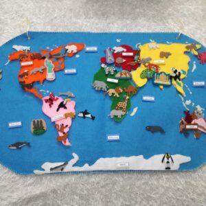حقيبة قارات العالم